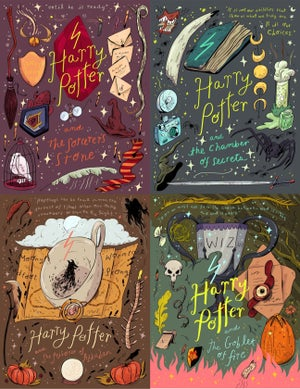Image of Harry Potter Movie Postcards / Set of 7