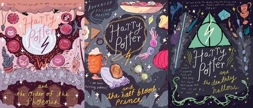 Image of Harry Potter Movie Postcards / Set of 7
