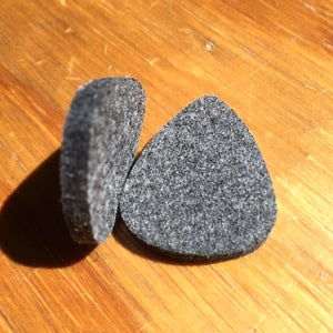 Image of Ukulele Picks (Felt, Rubber & Leather)