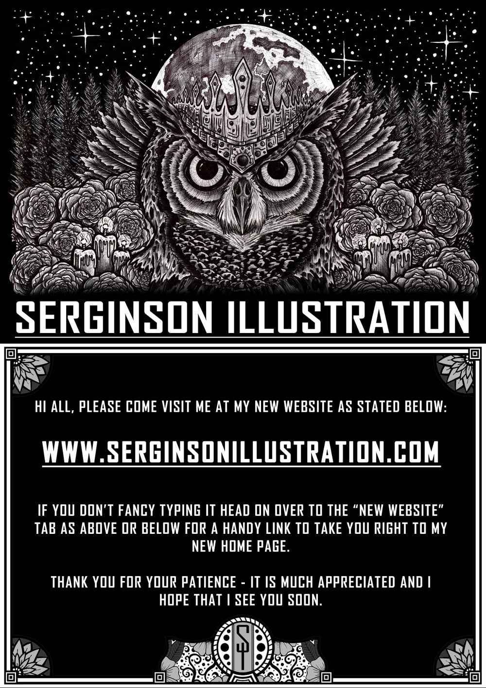 Home serginson illustration for Big cartel store templates