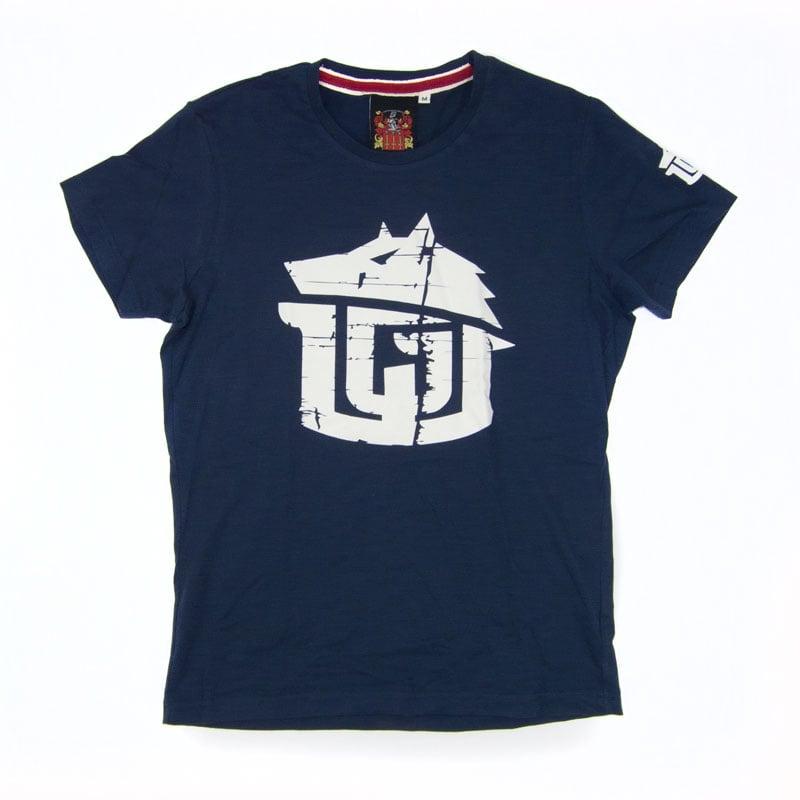 Image of Vintage Navy & White Super Soft GAME-WORN Grunge T Shirt