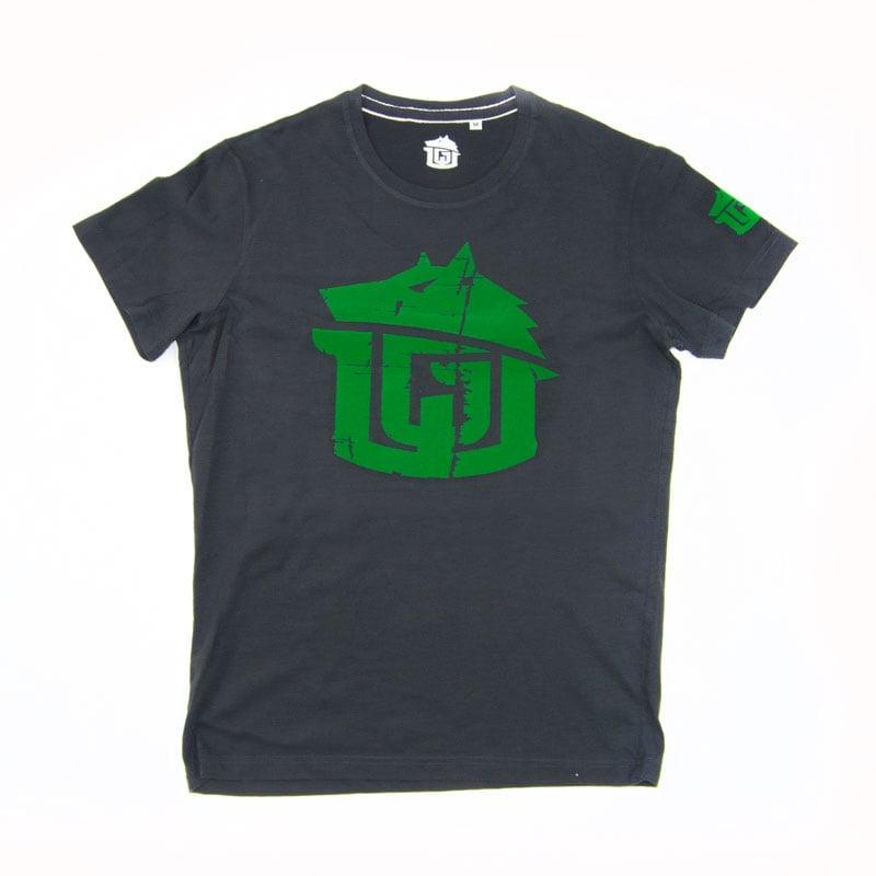 Image of Vintage Black & Green Super Soft GAME-WORN Grunge T Shirt