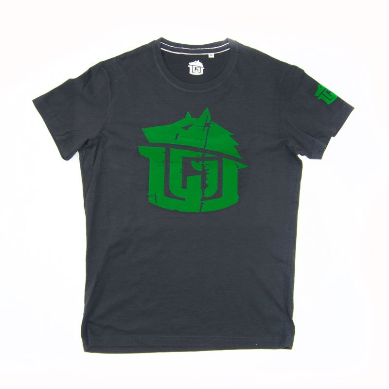 Image of Vintage Black & Green Super Soft GAME-WORN Grunge T Shirt