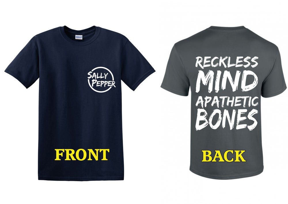 """Image of """"Reckless"""" T-shirt (Navy Blue or Charcoal Grey)"""
