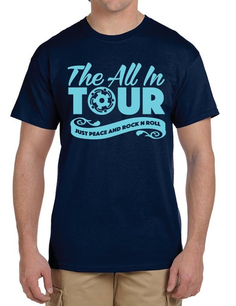 Image of Blue All-In Tour t-shirt