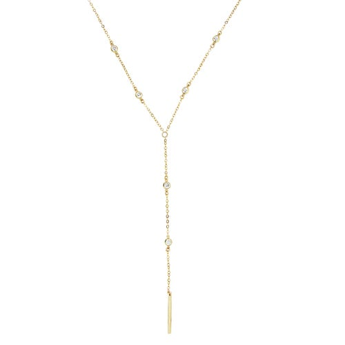 Image of White Topaz Lariat