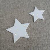 Image of Pochette de 2 étoiles magnétiques étoiles or