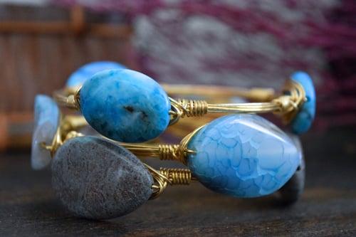Image of Blue Crazy Lace Agate Bangle