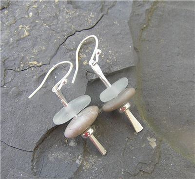 Image of Seaglass stacker earrings
