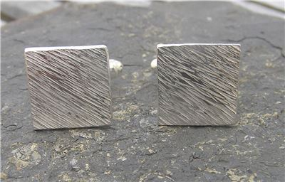 Image of Silver square cufflinks