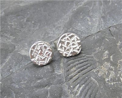 Image of Silver patterned studs