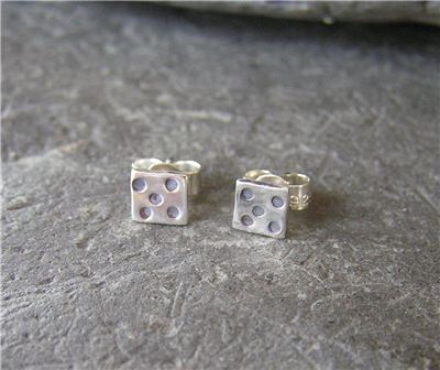 Image of Silver dotty studs