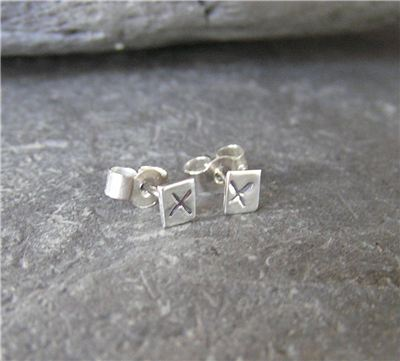 Image of Silver kiss studs