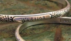"Image of ""WARRIOR ~ I Am Strong"" Sterling Bracelet"