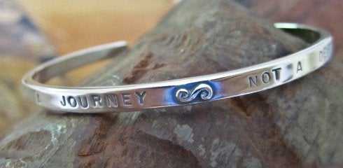 "Image of ""Life is a Journey~Not a Destination"" Sterling Bracelet"