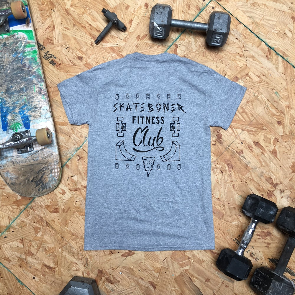Image of SkateBoner Fitness Club tee (grey)