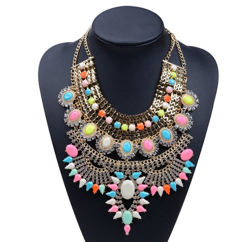 Image of Bobbi Bib Statement Necklace GOLD
