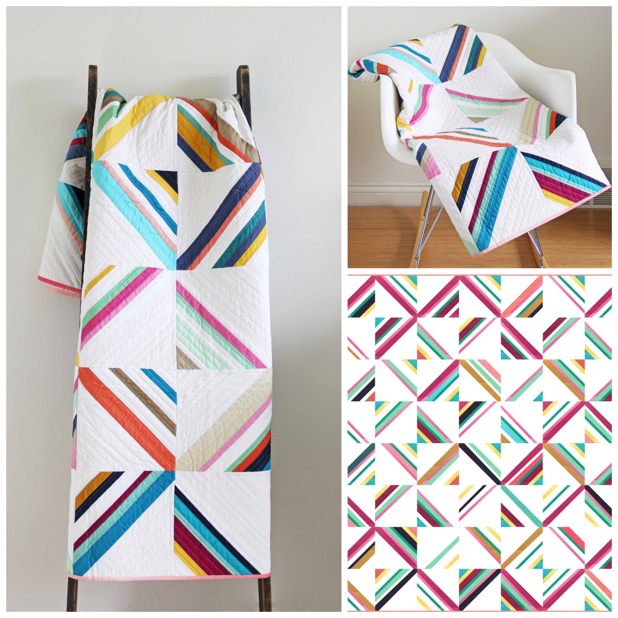 V And Co  U2014 Hang Ten Ombre Quilt Pattern