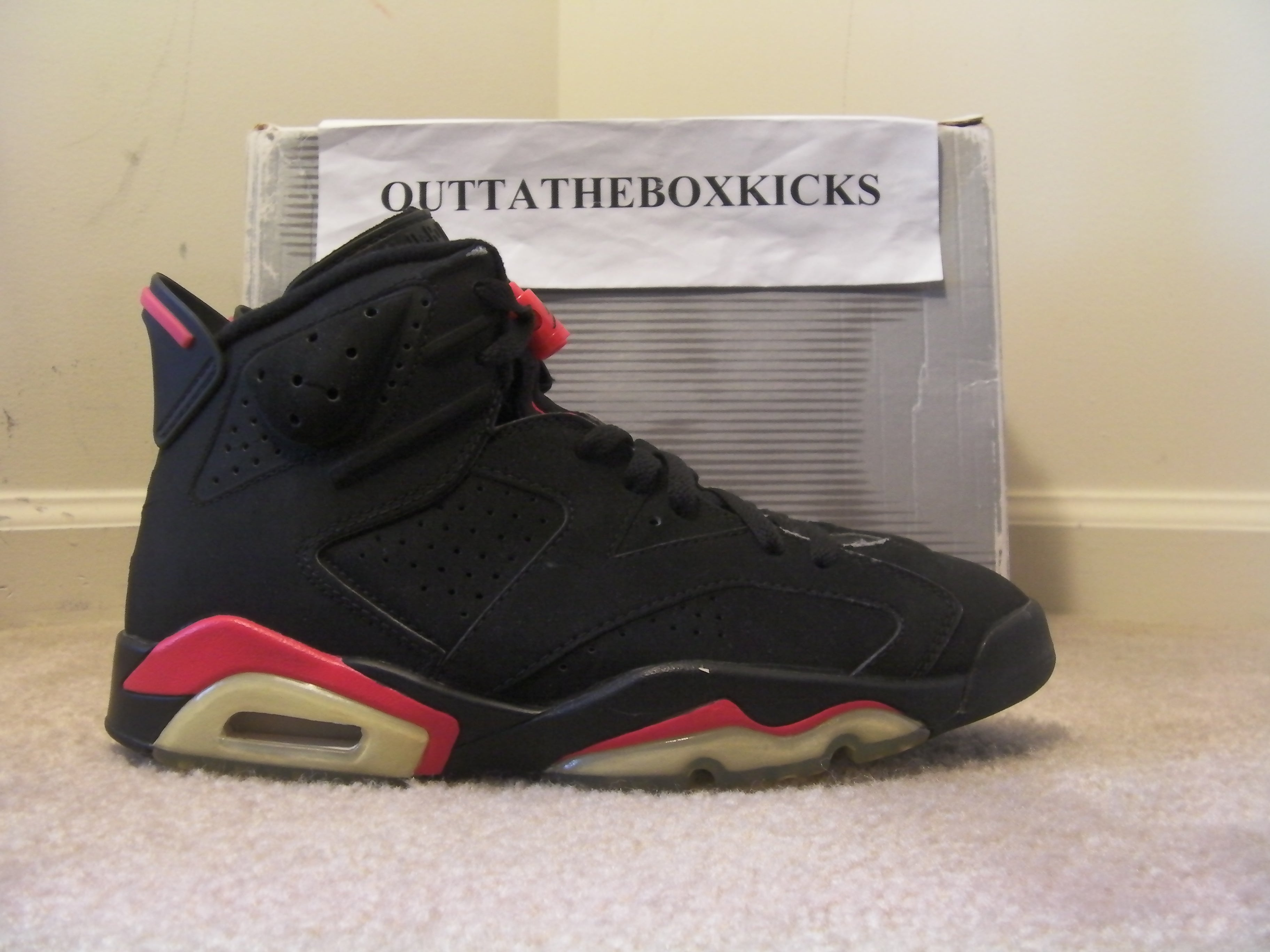 best service 5270f cb216 ... australia air jordan 6 black infrared 2000 size 8. sold out 28b70 fdea9