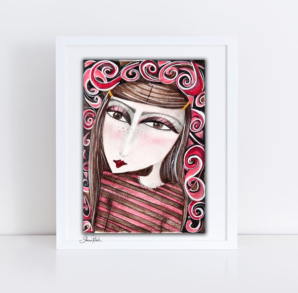 Image of Swirling Girl PRINT