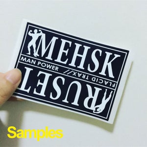 Image of Black&White---Custom Eggshell Stickers