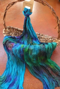 Image of Opal - Crinkle Silk Pongee Scarf
