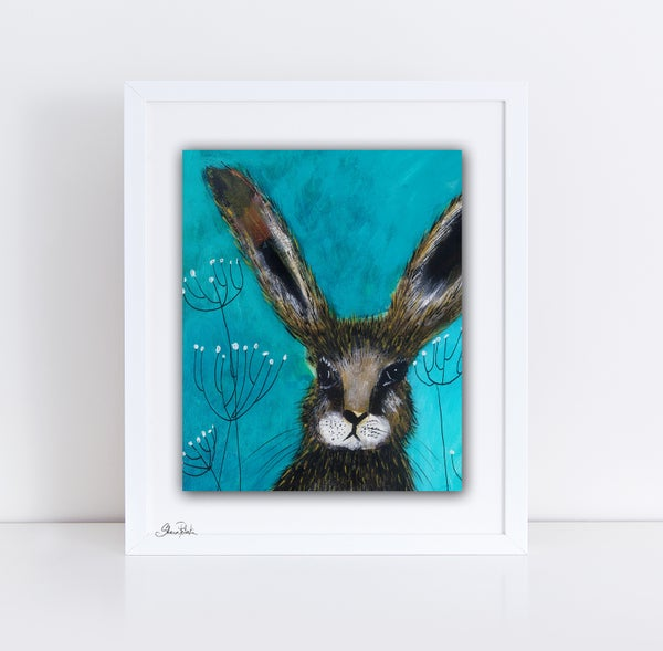 Image of Wild Rabbit Detail PRINT