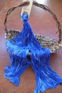 Image of True Blue - Crinkle Silk Pongee Scarf