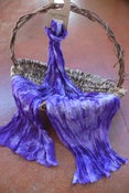 Image of Hardenbergia - Crinkle Silk Pongee Scarf