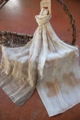 Image of Eucalyptus and Autumn Leaves  -  Crepe de Chine Scarf