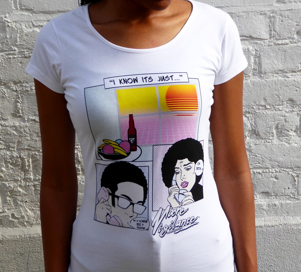 Image of Womens 'Lover not a Fighter!' Tee