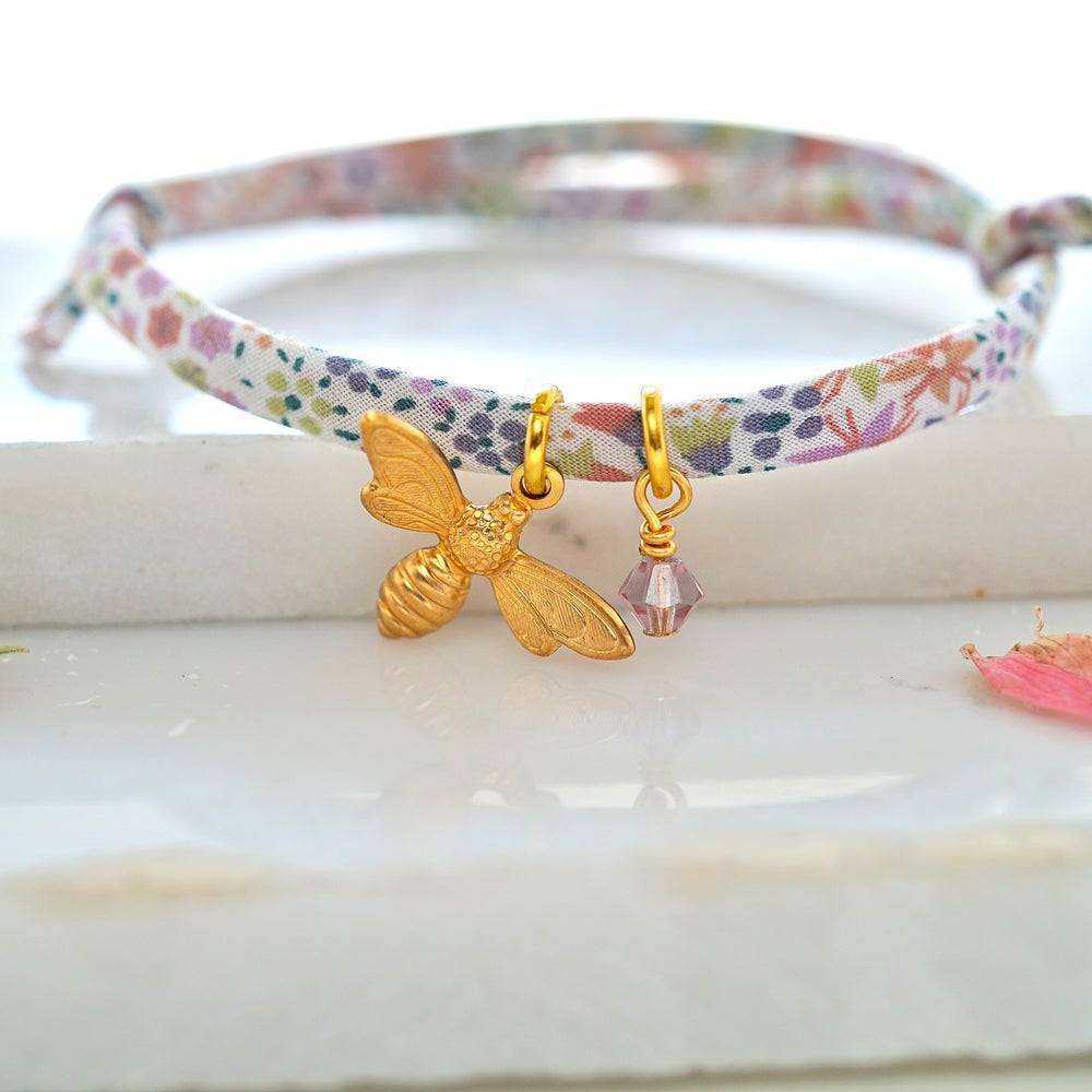 Image of Bee and swarovski bracelet