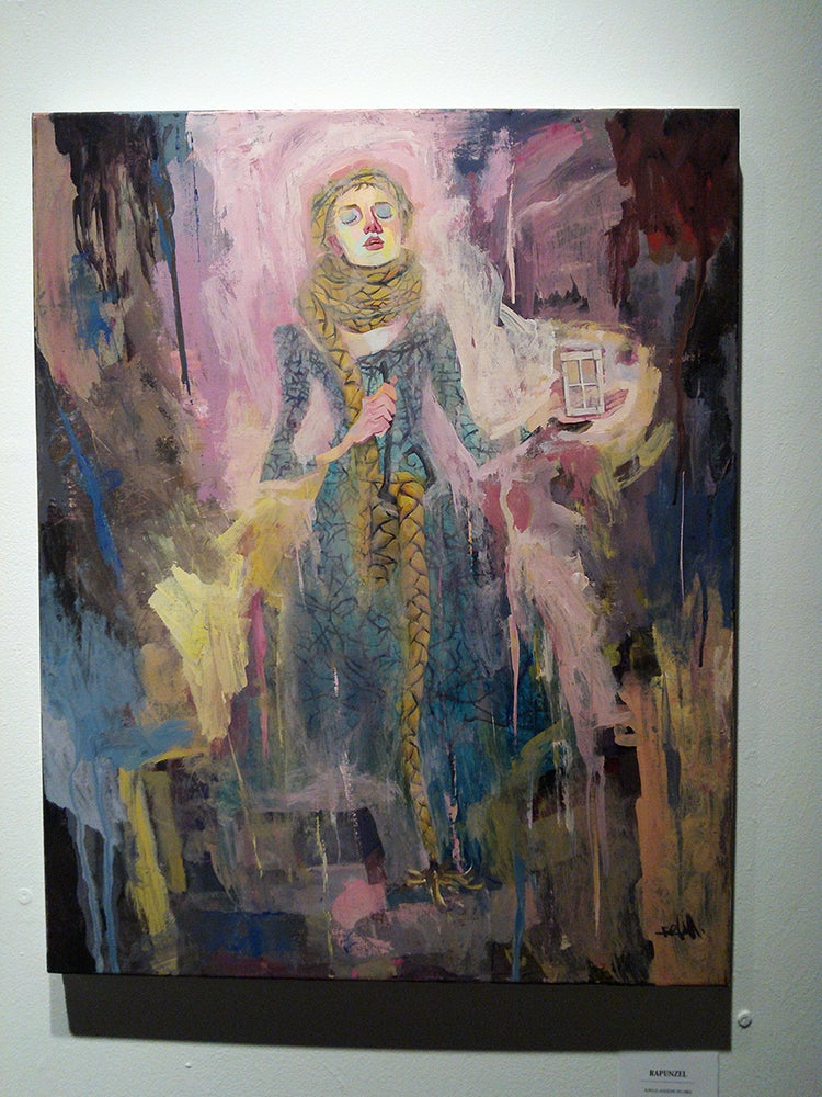 Image of Rapunzel Original Painting