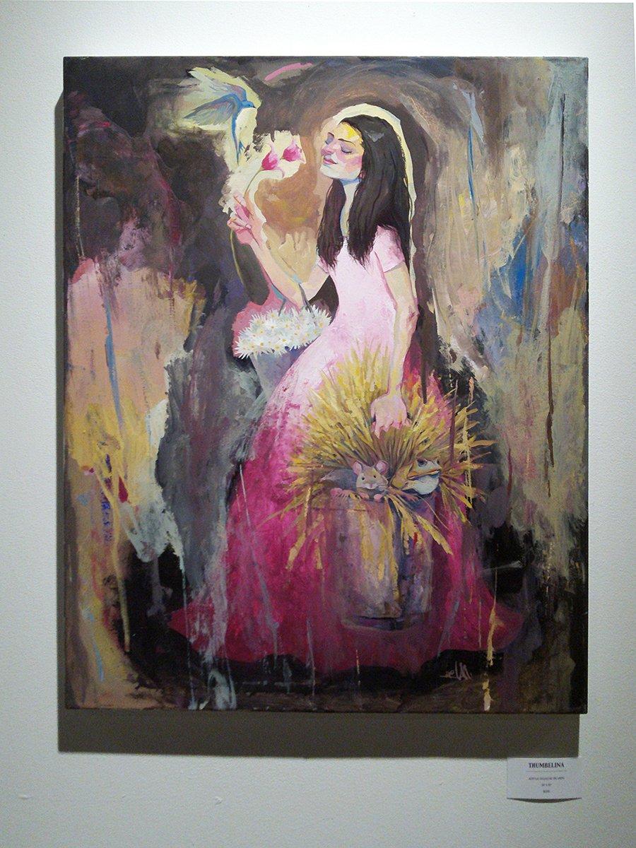 Image of Thumbelina Original Painting