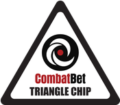 Image of Triangle Custom CombatBet Chips - Minimum Order is 100
