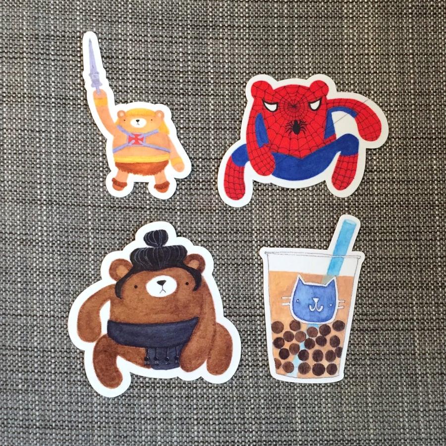 Image of vinyl stickers, series three
