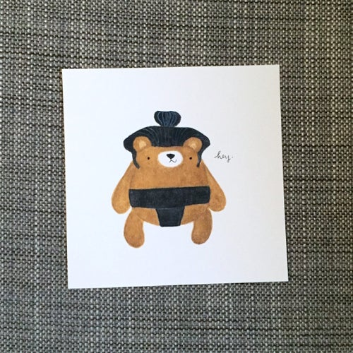 Image of sumo bear petite prints