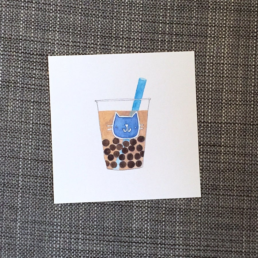 Image of petite bubble tea print