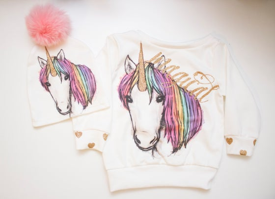 Image of Unicorn Sweatshirt for Babies and Toddlers