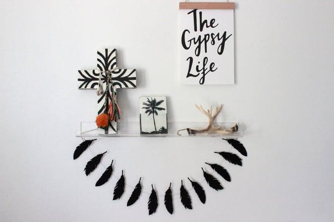 Image of Shelfie length feather garland
