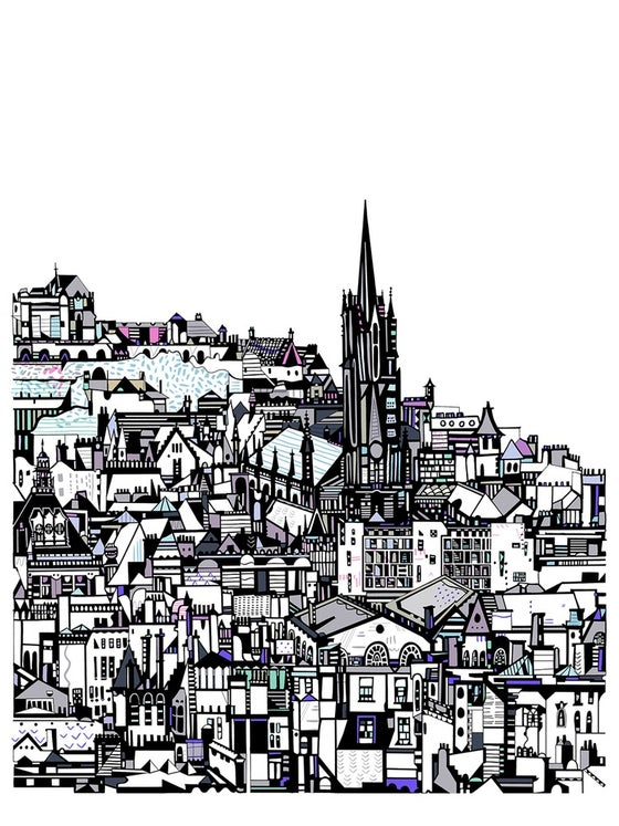 Image of LARGE Edinburgh City Giclee Print