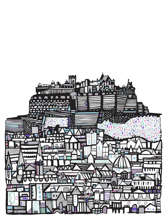 Image of LARGE Edinburgh Castle Giclee print