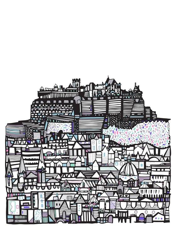 Image of LARGE Edinburgh Castle Giclee print