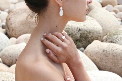 Image of Bague double mother-of-pearls
