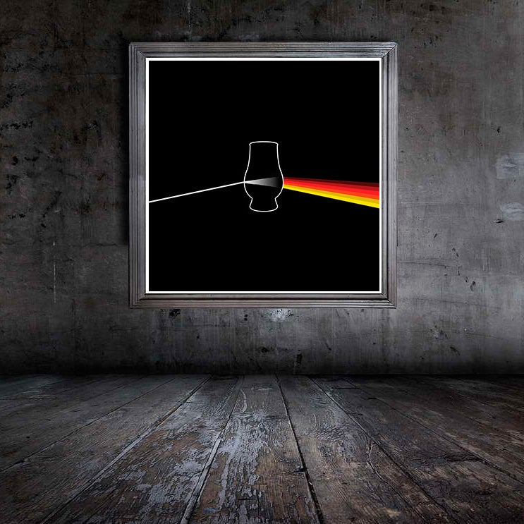 "Image of Dark Side of the Malt - Giclée Print 12"" x 12"""