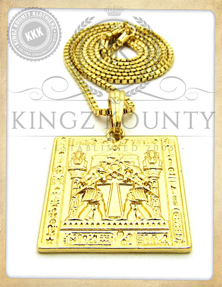 Image of HERU VS SET GOLD PLATE BOX CHAIN