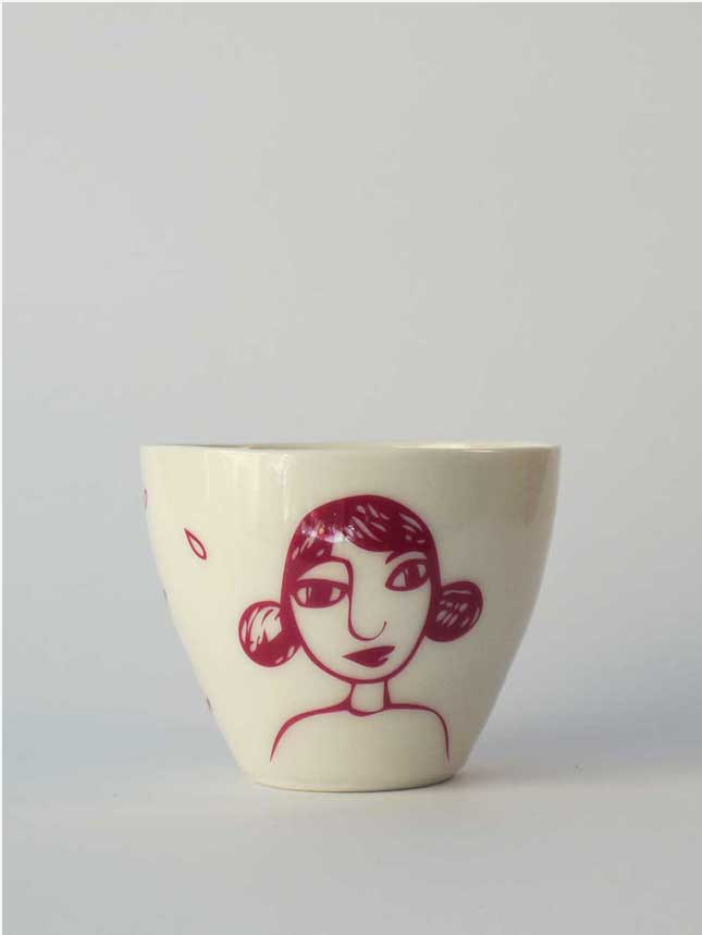 Image of Large cup </br> Girl in pink