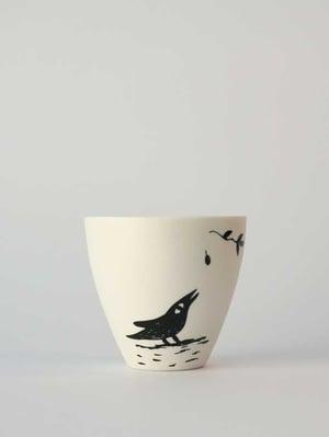 Image of Small cup </br> black bird - Matt