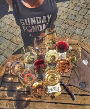 Image of Sunday Funday w/ Rose' crop tank