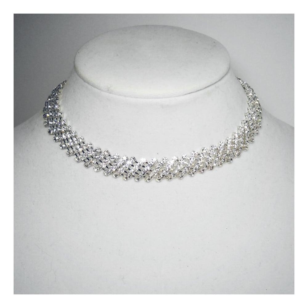 Image of Diagonal Diamond Choker